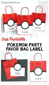 halloween party title pokemon party favor bag with free printable buggy and buddy