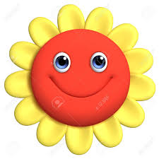 Smiley Flowers - 3d cartoon cute flower stock photo picture and royalty free image