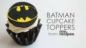 make batman cupcake toppers myrecipes