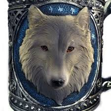 game of thrones 3d wolf mug stainless steel wine glasses gilf