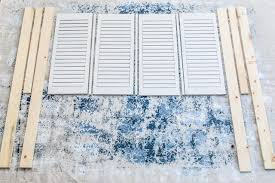 how to make a headboard out of old shutters ehow