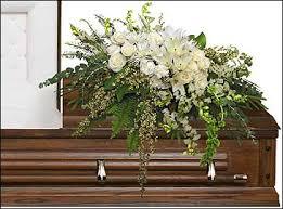 funeral casket garden elegance casket spray funeral flowers in stonewall mb