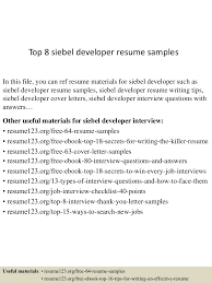 Real Estate Developer Resume Sample by Top8siebeldeveloperresumesamples 150723090937 Lva1 App6892 Thumbnail 4 Jpg Cb U003d1437642623