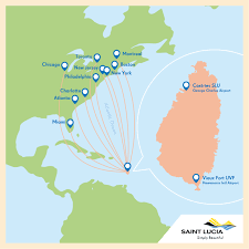 Saint Lucia Map Getting Here