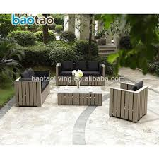 wooden meubles pp wooden outdoor sofa set plastic garden furniture meubles de