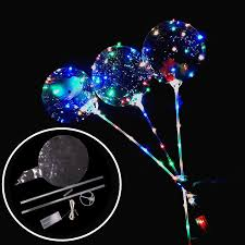 inflated balloons delivered new luminous led balloons with stick bright balloon lighted