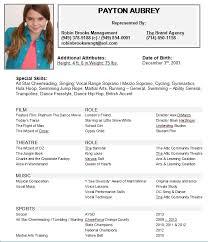 Sample Dance Resume by Download Child Actor Resume Haadyaooverbayresort Com