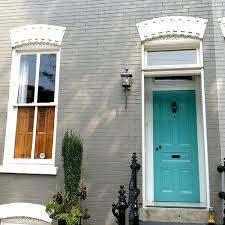 benjamin moore florida keys blue front door gray painted brick