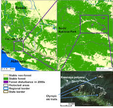 Caucasus Mountains World Map by Forest Change In Caucasus In 1980 2010 Silvis Lab