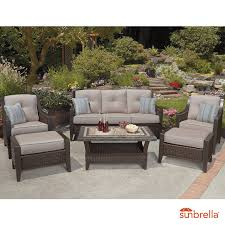 agio cordova 6 piece woven deep seating set patio conservatory