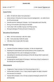 hr cv sample for freshers fresher resume sample 28 resume templates for freshers free