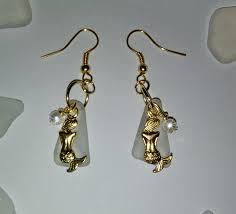 mermaid earrings gold mermaid earrings sea glass jewelry by sea glass secrets