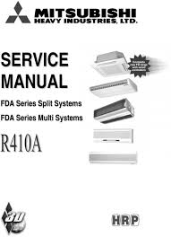 mitsubishi split air conditioner service manual air conditioner