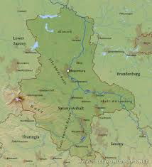 Wittenberg Germany Map by Saxony Anhalt Physical Map