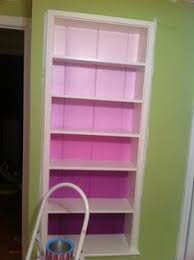 Pink Bookcase Ikea Ikea Hack Billy Bookcase Ombre With Embossed Wallpaper Billy