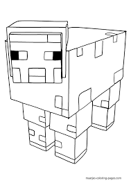 minecraft animal coloring pages getcoloringpages