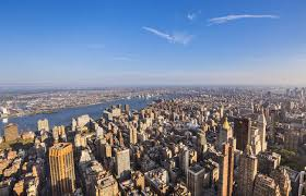 New York How Does Light Travel images Usa new york city view to midtown manhattan from above in sunset jpg