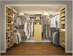 stylish modern walk in closet design idea light brown with shoe