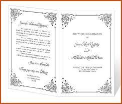 template for wedding programs wedding program templates sop exle