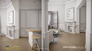 2d kitchen design minosa 3d rendering