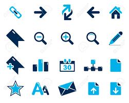 le de bureau bleu stock vector icônes web et de bureau bleu en haute résolution