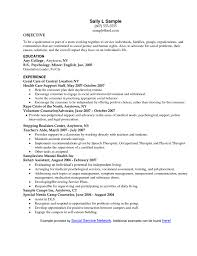 Social Work Resume Cover Letter Work Resume Objective Employment Resume Objective