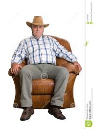 Old Man In Rocking Chair An Elderly Man In Cowboy Hat Sitting In The Chair Stock Photo