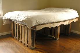 Bedroom Furniture High Riser Bed Frame Pallet Project High Standing Pallet Bed With Storage Space