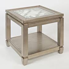 mirrored coffee table set casa bella mirrored occasional table set vintage silver