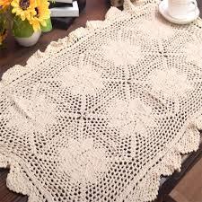 napperon de cuisine 50 82 cm chaude dentelle coton crochet table napperon pad tissu pot