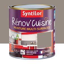 repeindre meuble cuisine laqué peinture rénov cuisine syntilor brun macaron 0 5 l leroy merlin