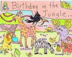 Jungle Birthday Card Jungle Birthday Card Etsy