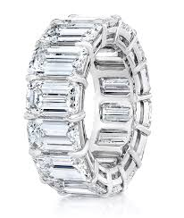 emerald bands rings images Emerald cut diamond eternity band cellini cellini jewelers jpg