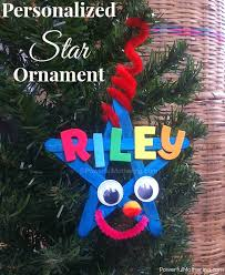 personalized kids star ornament christmas crafts