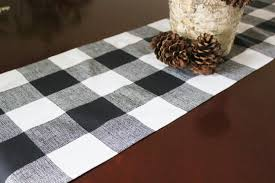 Christmas Plaid Table Runner by Black Table Runners Elephant Table Runner With Organza Black