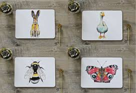 placemats co uk british country life placemats set 2 animals