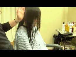 back of hairstyle cut with layers and ushape cut in back v back long layered haircut face framing hair tutorial youtube