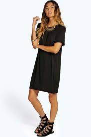 black shift dress sinitta turn back cuff shift dress boohoo