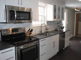 condo kitchens greyish rock flooring vintage dark brown chandelier