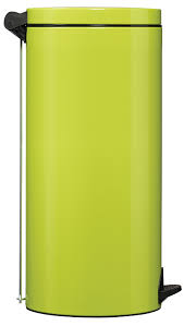 poubelle cuisine verte poubelle à pédale métal 30l vert anis rossignol sanelia