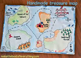 treasure map handmade treasure map