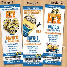 despicable me 2 invitation printable minions birthday party