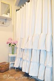 Dainty Home Flamenco Ruffled Shower Curtain Sweet Home Collection Elegant Sheer Voile Vertical Ruffle Window