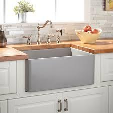 24 reinhard fireclay farmhouse sink gray kitchen