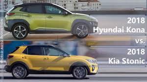 2018 hyundai kona vs 2018 kia stonic technical comparison youtube