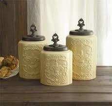 fleur de lis kitchen canisters canister set 3 fleur de lis sealed mud pie http amazon