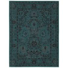 Area Rugs 8x10 Home Depot Home Decorators Collection Overdye Teal 7 Ft 10 In X 10 Ft Area