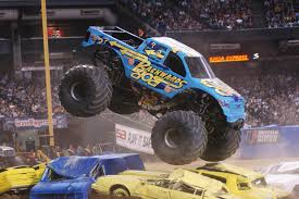 monster jam monster truck monster jam drives through mohegan sun arena in wilkes barre feb