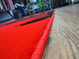 Black And Red Area Rugs by New Red With Black Geometric Area Rug Hand Carved Rug Addiction