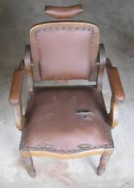Leather Chair Restoration 19th Century Barber Chair Restoration Johnsonarts